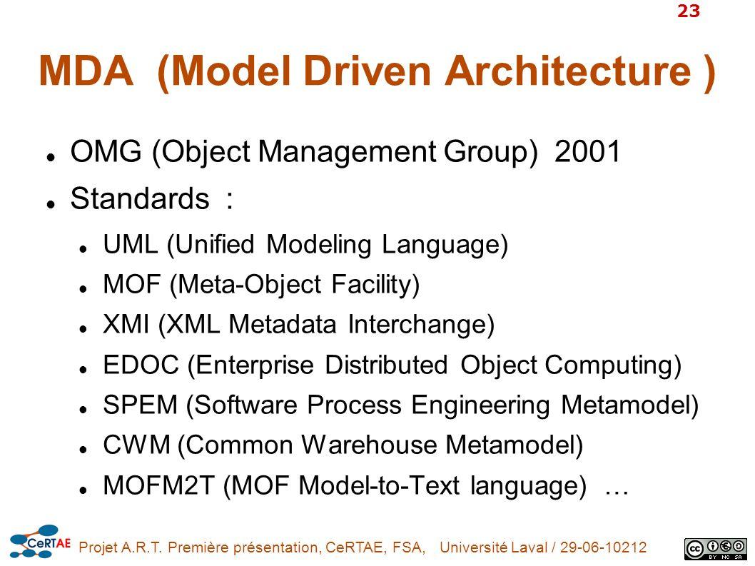 MDA (Model Driven Architecture )