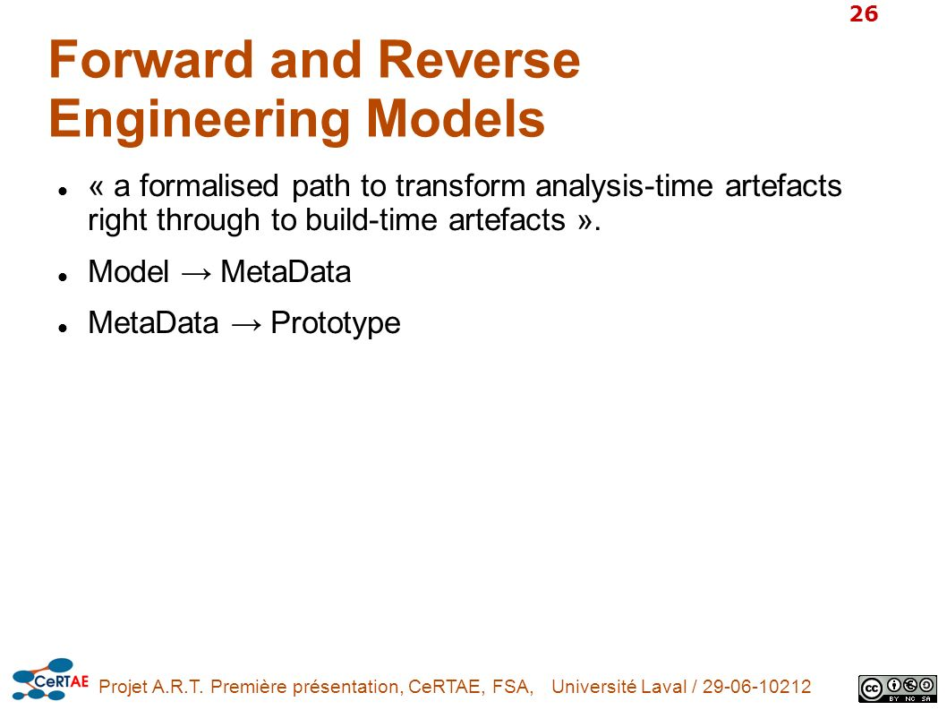 Forward and Reverse Engineering Models