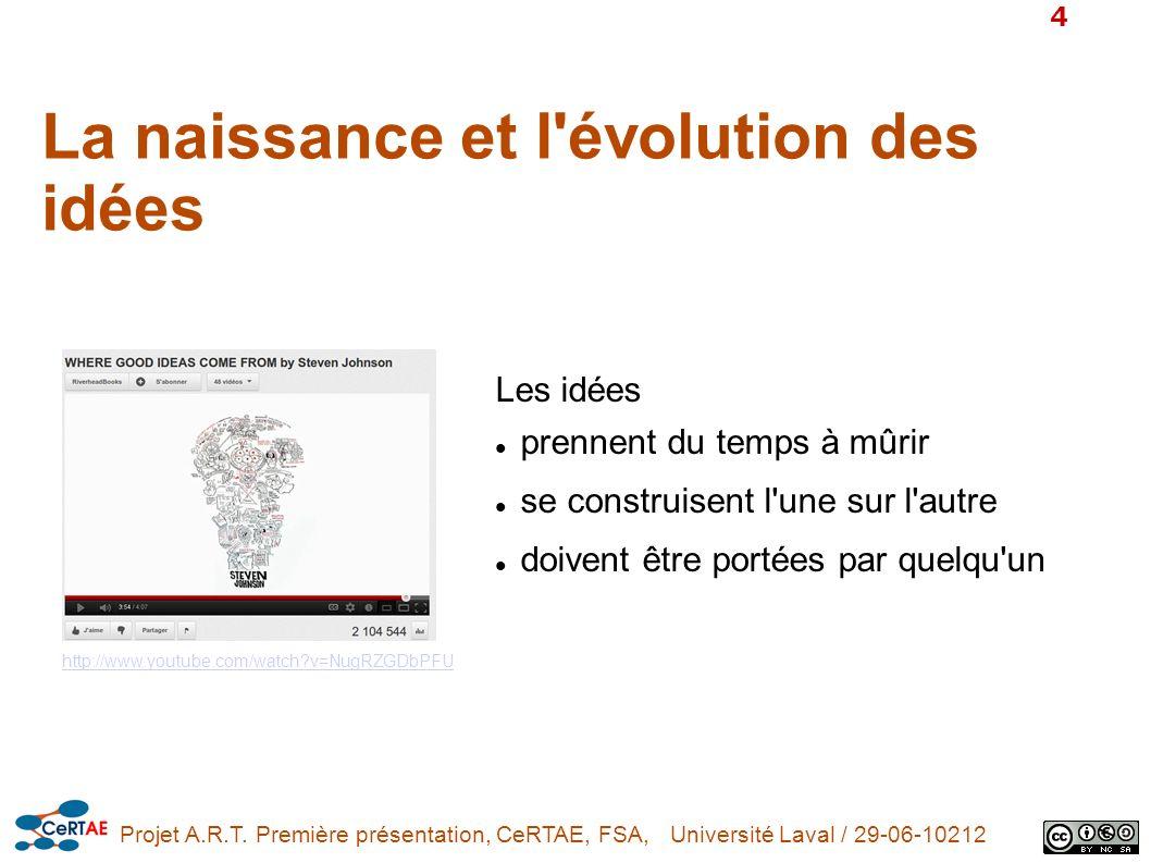 La naissance et l évolution des idées
