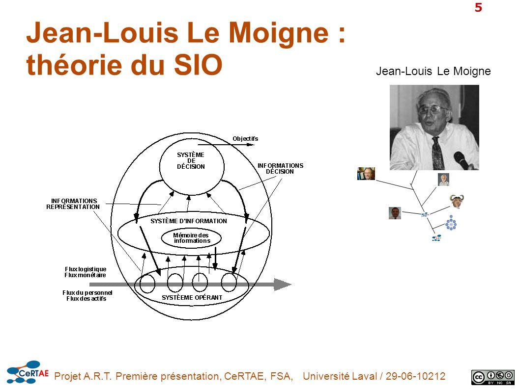 Jean-Louis Le Moigne : théorie du SIO