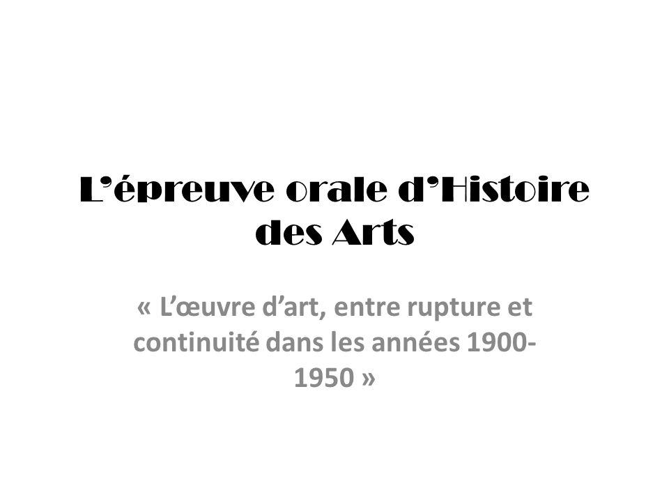 L'épreuve orale d'Histoire des Arts