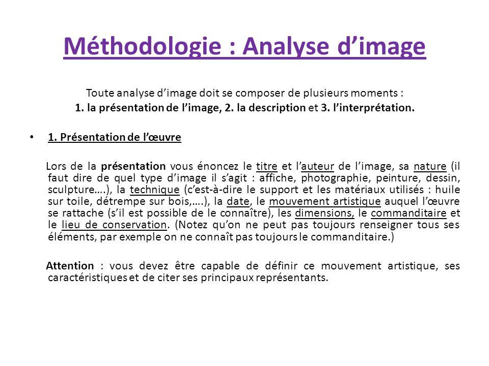 Méthodologie : Analyse d'image
