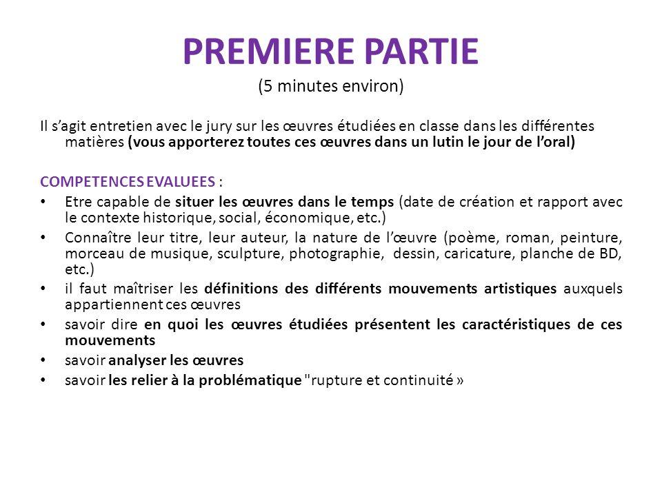 PREMIERE PARTIE (5 minutes environ)