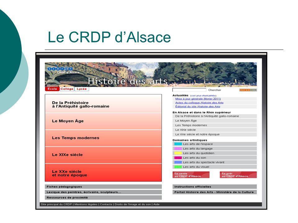 Le CRDP d'Alsace