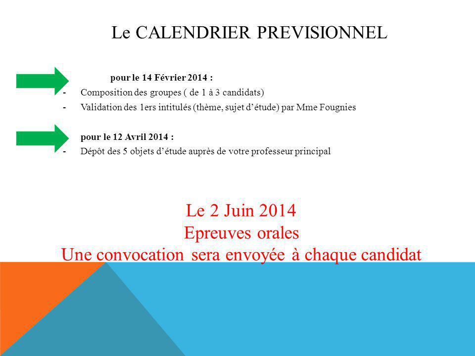 Une convocation sera envoyée à chaque candidat