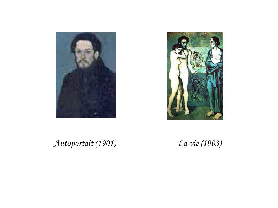 Autoportait (1901) La vie (1903)