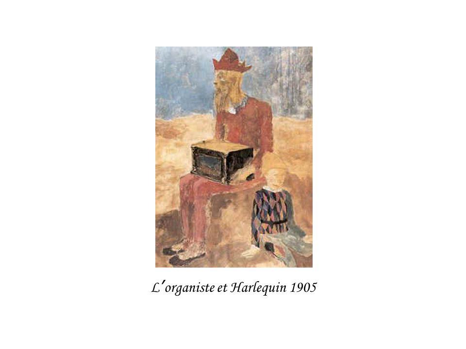 L'organiste et Harlequin 1905