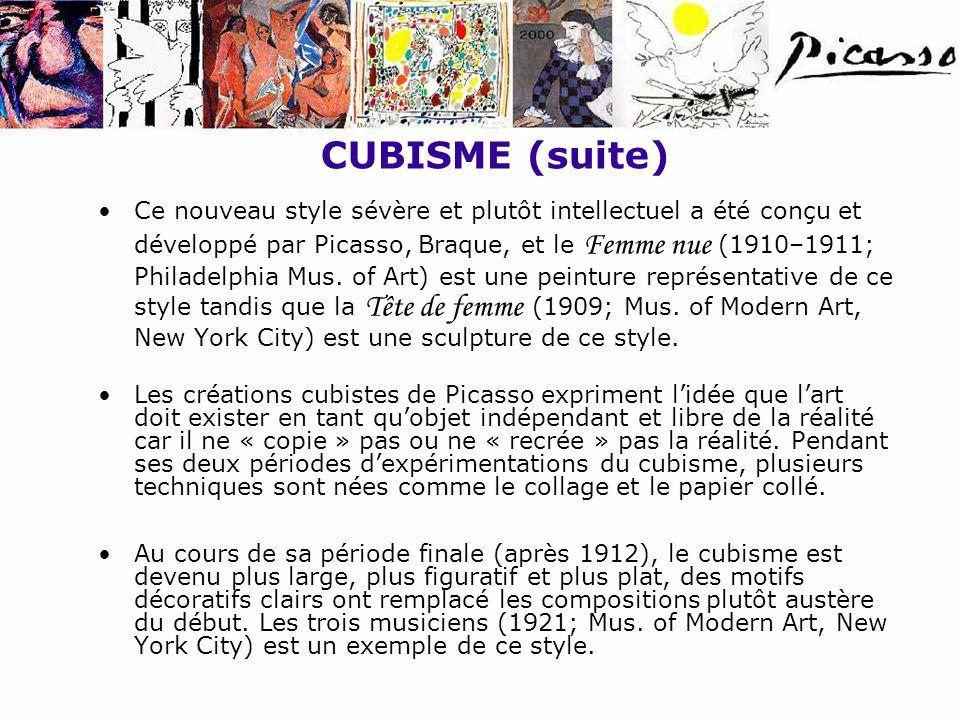 CUBISME (suite)