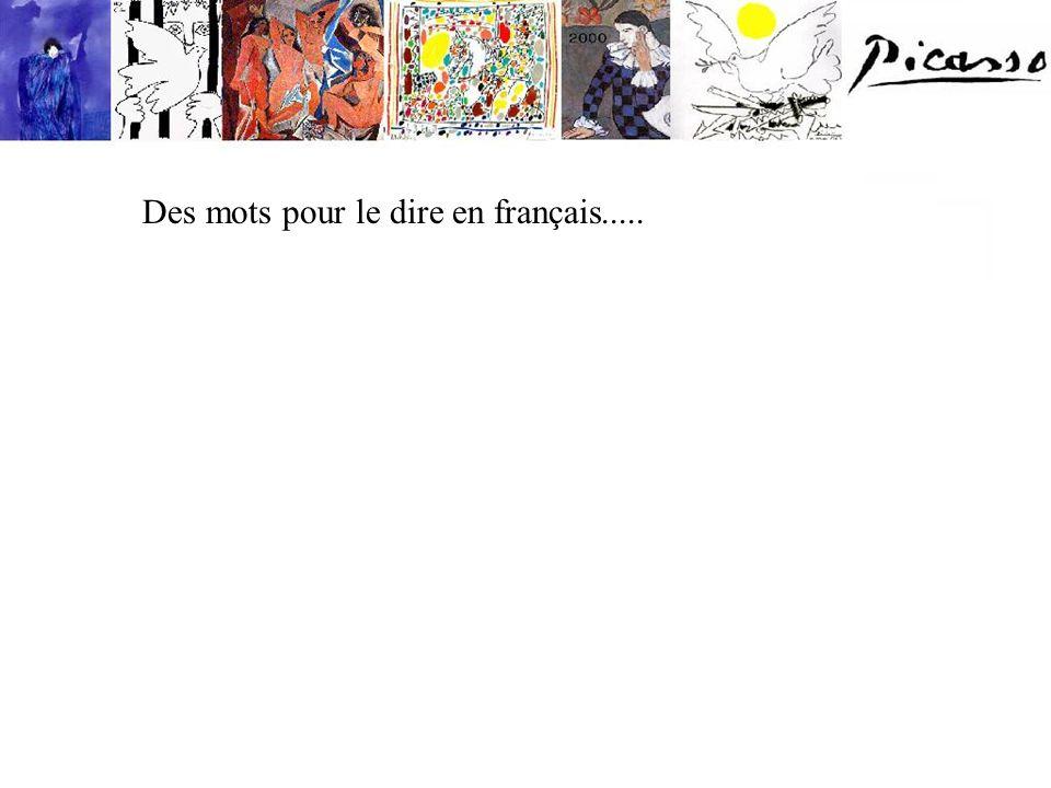 Des mots pour le dire en français.....