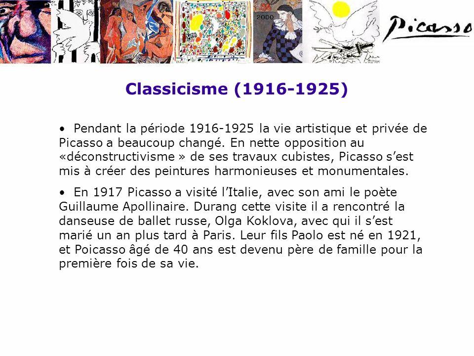Classicisme (1916-1925)