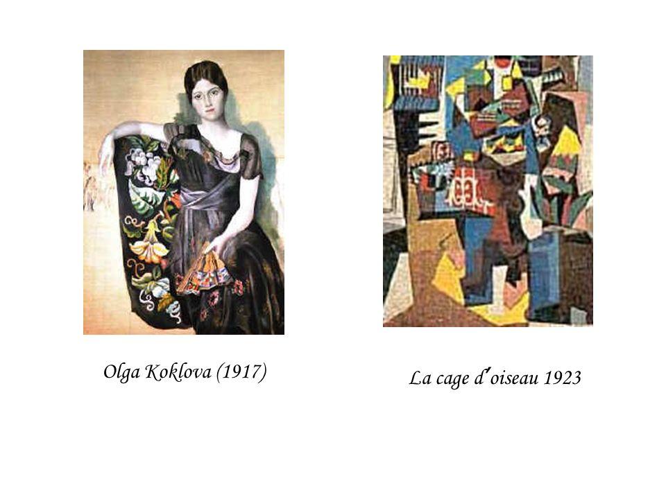Olga Koklova (1917) La cage d'oiseau 1923