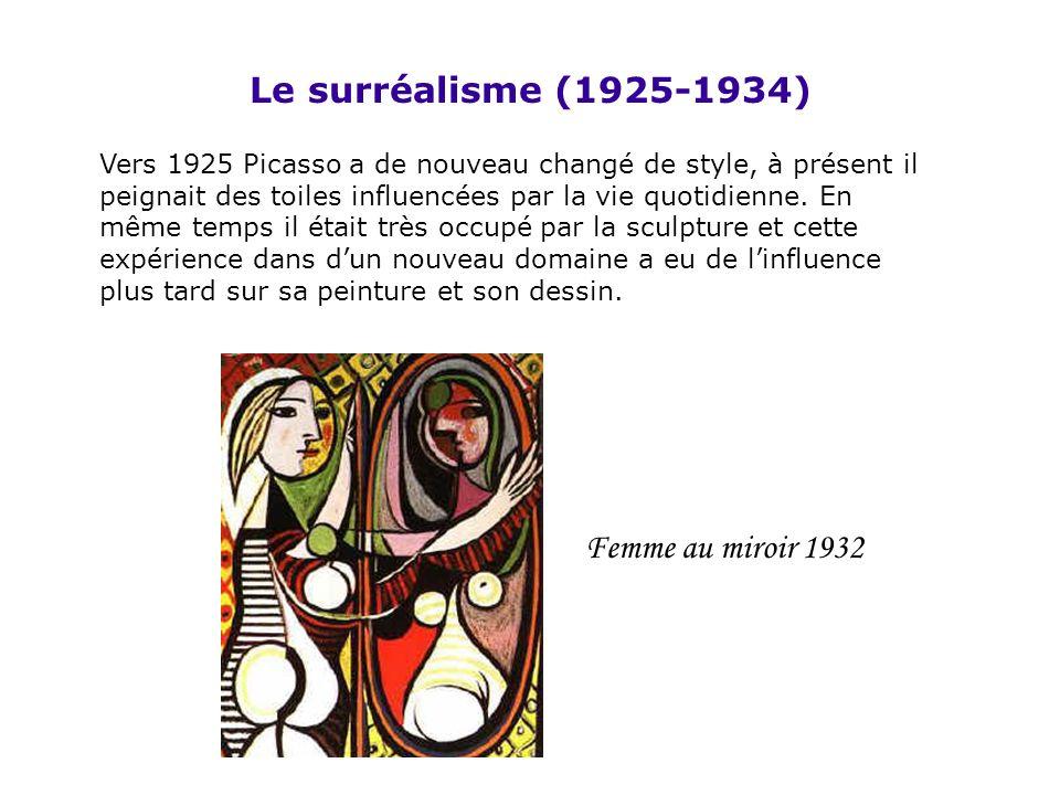 Le surréalisme (1925-1934) Femme au miroir 1932