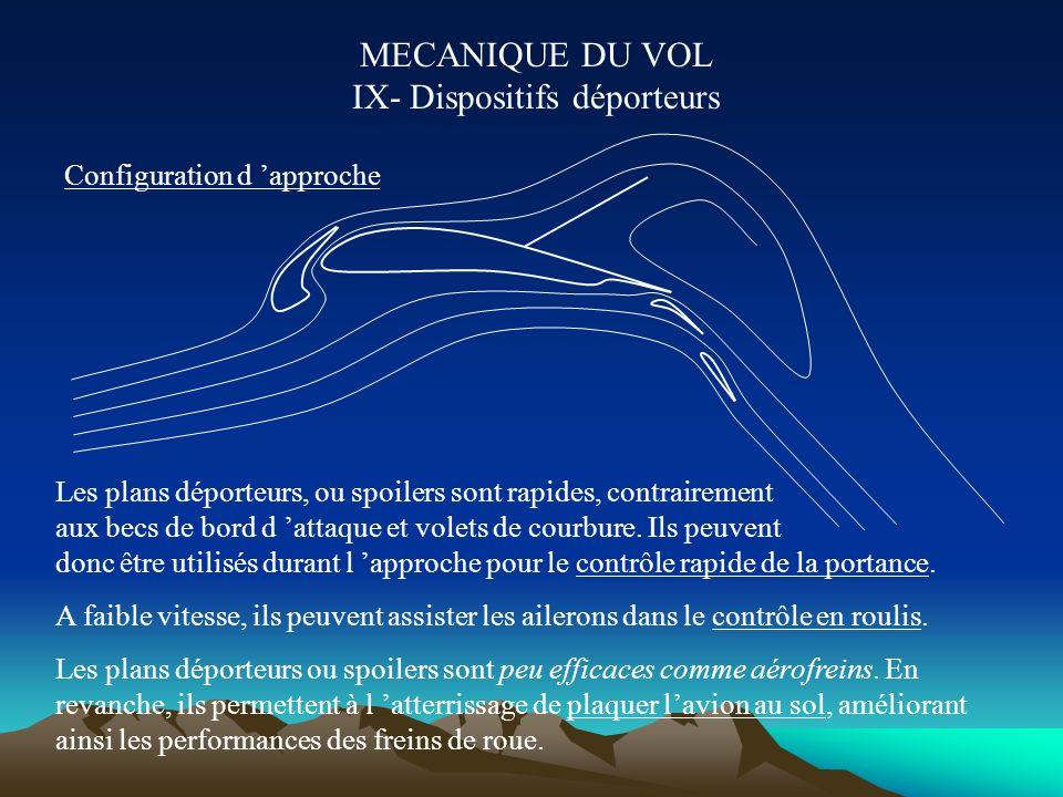 MECANIQUE DU VOL IX- Dispositifs déporteurs