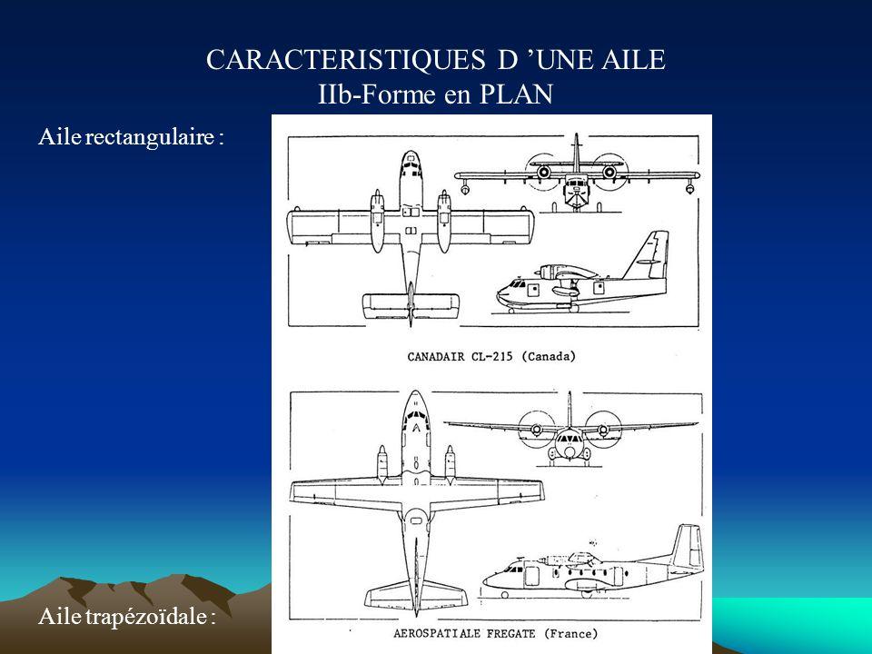 CARACTERISTIQUES D 'UNE AILE IIb-Forme en PLAN