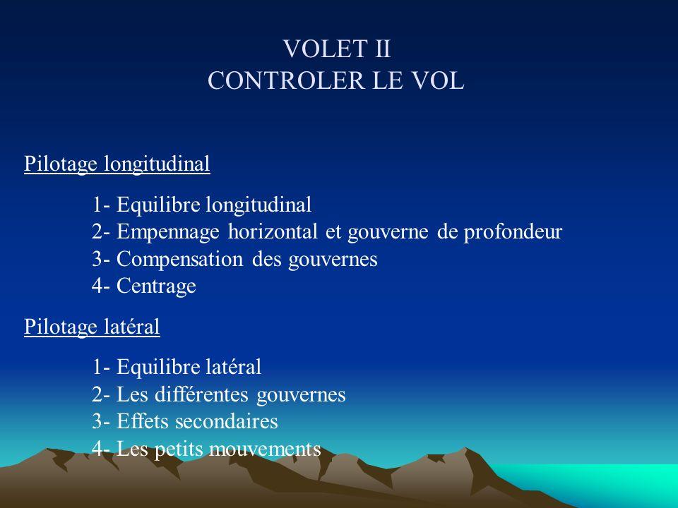 VOLET II CONTROLER LE VOL