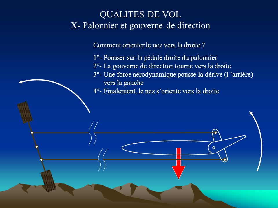 QUALITES DE VOL X- Palonnier et gouverne de direction