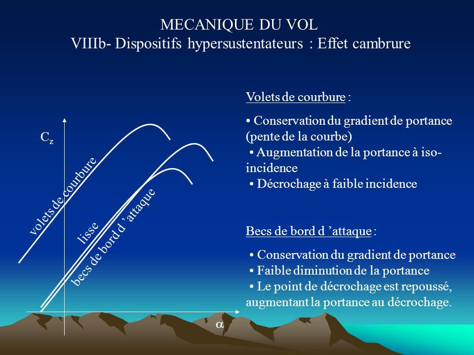 MECANIQUE DU VOL VIIIb- Dispositifs hypersustentateurs : Effet cambrure