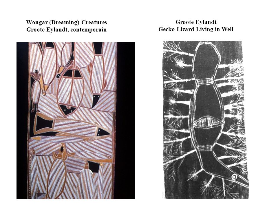 Wongar (Dreaming) Creatures Groote Eylandt, contemporain