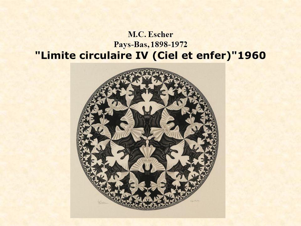 M.C. Escher Pays-Bas, 1898-1972 Limite circulaire IV (Ciel et enfer) 1960