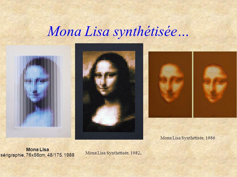 Mona Lisa synthétisée…