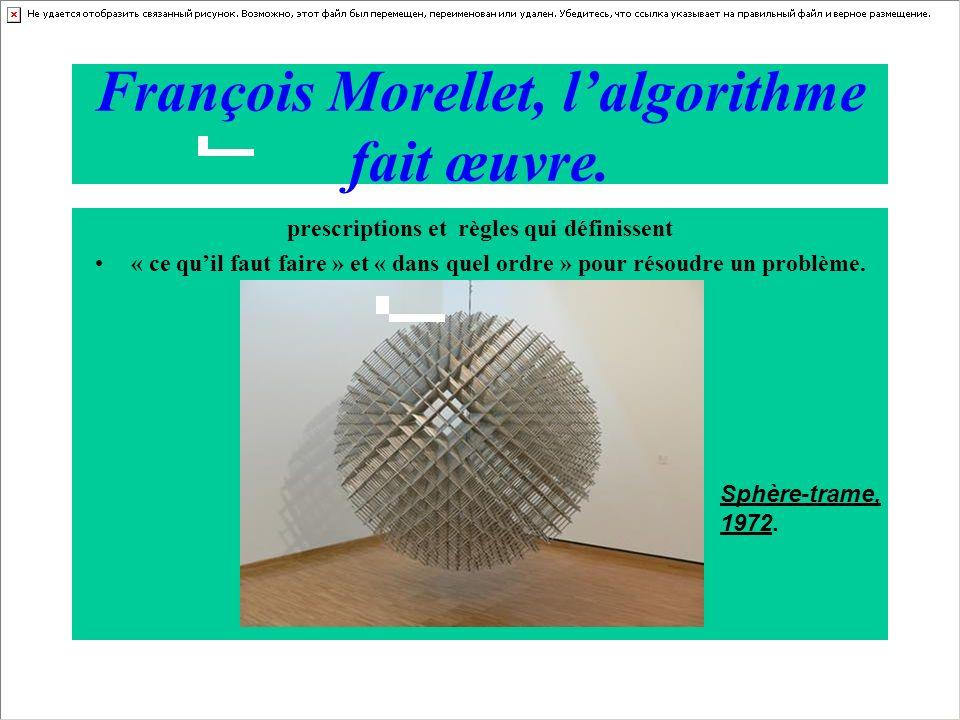 François Morellet, l'algorithme fait œuvre.