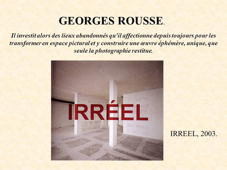GEORGES ROUSSE.