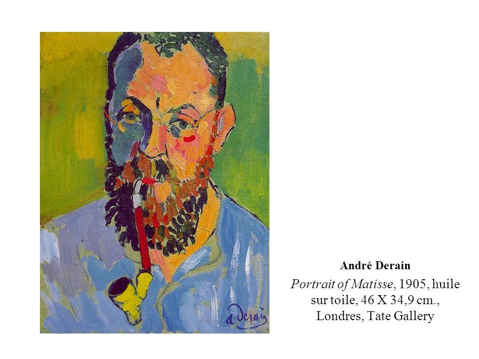 André Derain Portrait of Matisse, 1905, huile sur toile, 46 X 34,9 cm., Londres, Tate Gallery