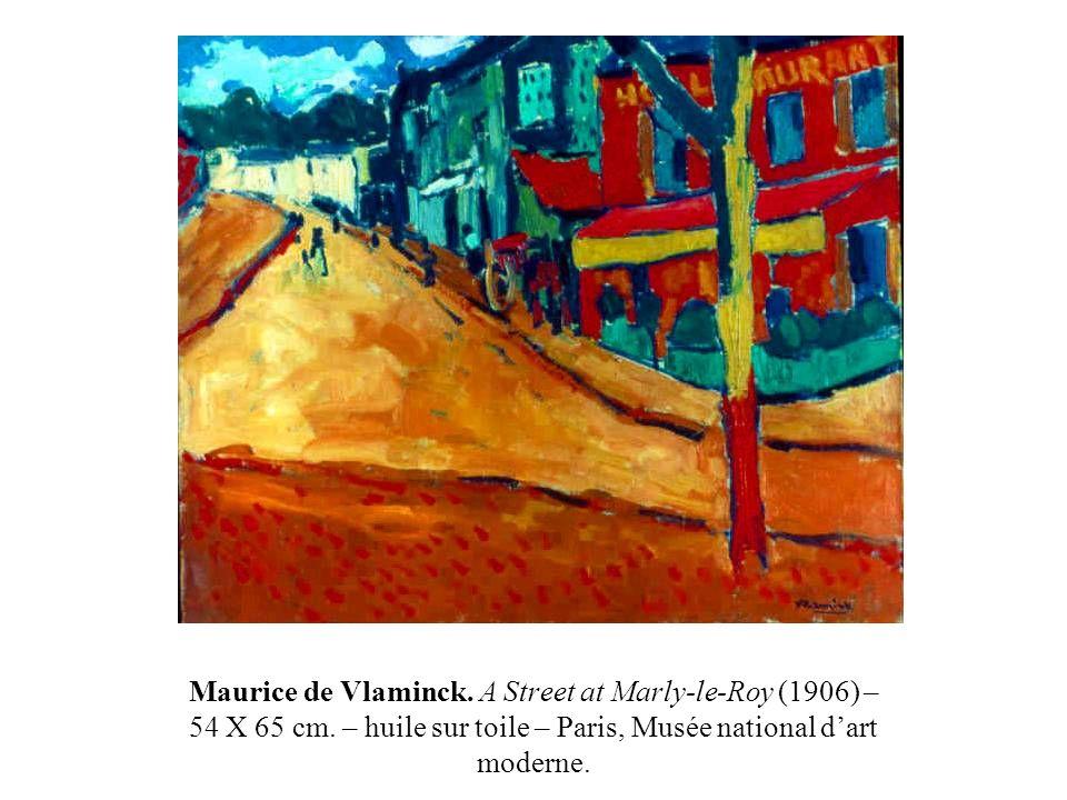Maurice de Vlaminck. A Street at Marly-le-Roy (1906) – 54 X 65 cm