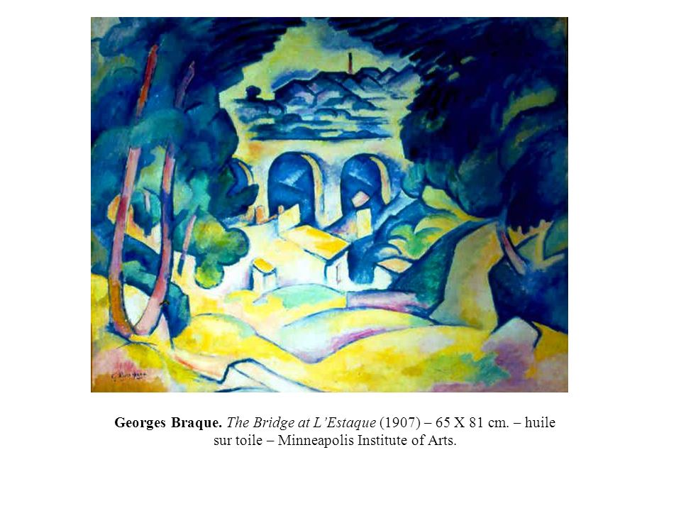 Georges Braque. The Bridge at L'Estaque (1907) – 65 X 81 cm