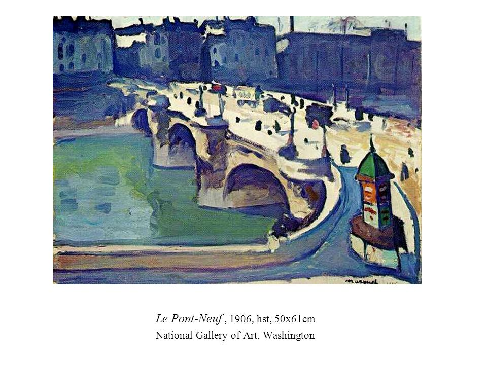 Le Pont-Neuf , 1906, hst, 50x61cm National Gallery of Art, Washington