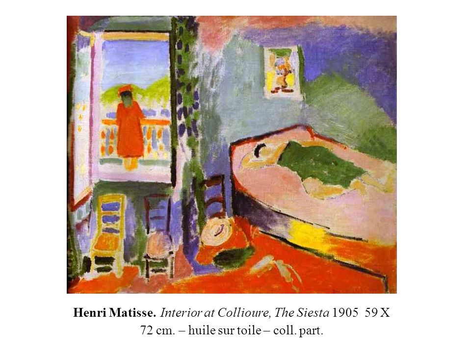 Henri Matisse. Interior at Collioure, The Siesta 1905 59 X 72 cm