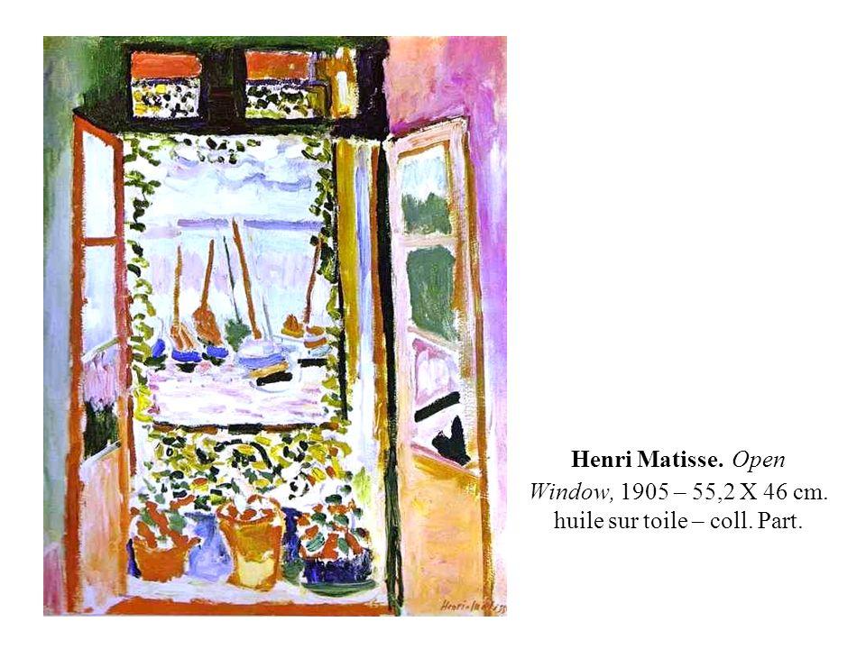Henri Matisse. Open Window, 1905 – 55,2 X 46 cm. huile sur toile – coll. Part.