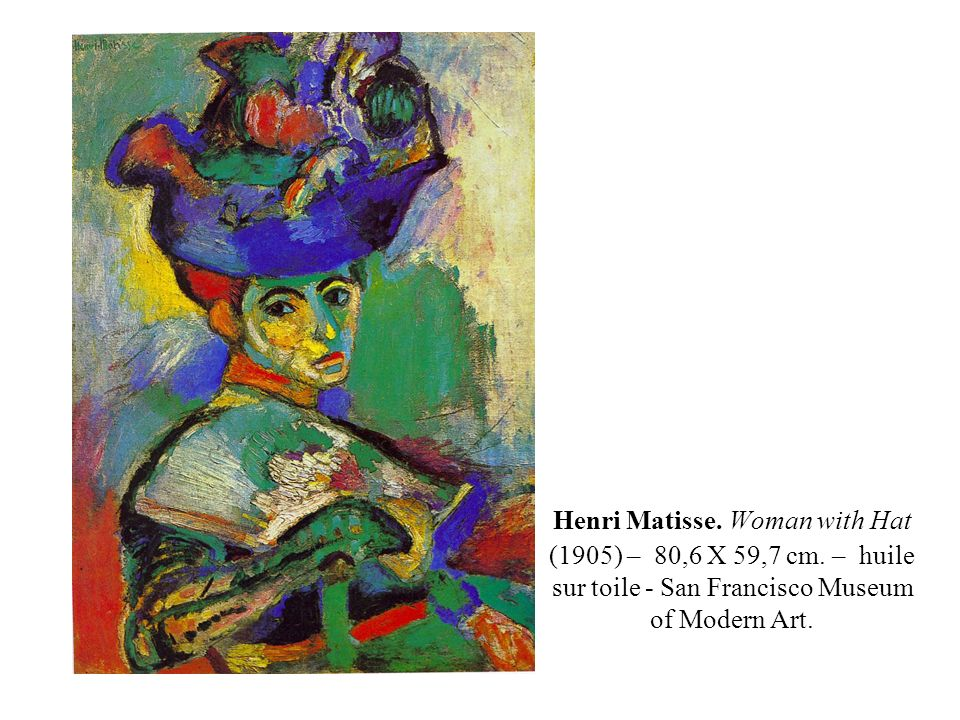 Henri Matisse. Woman with Hat (1905) – 80,6 X 59,7 cm
