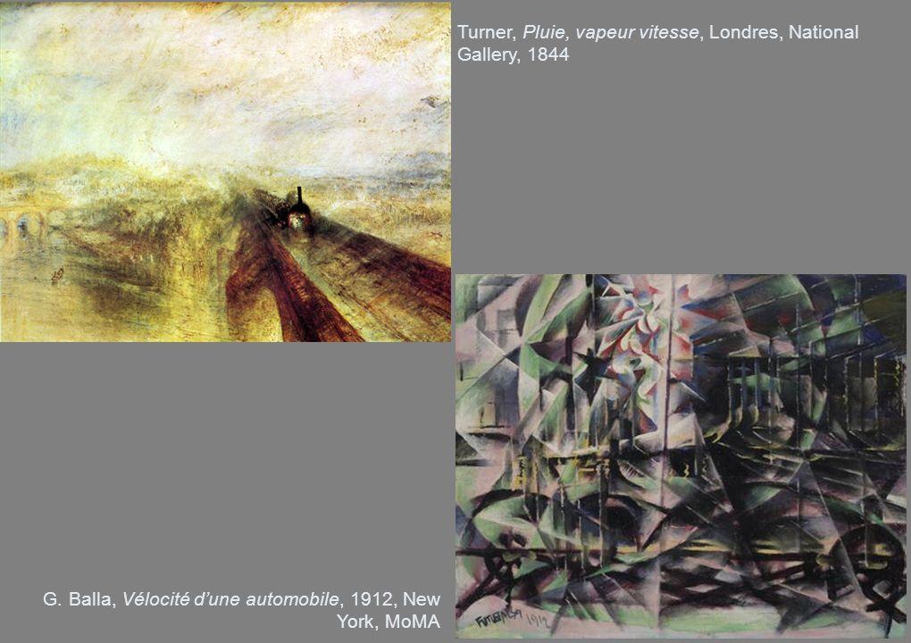 Turner, Pluie, vapeur vitesse, Londres, National Gallery, 1844