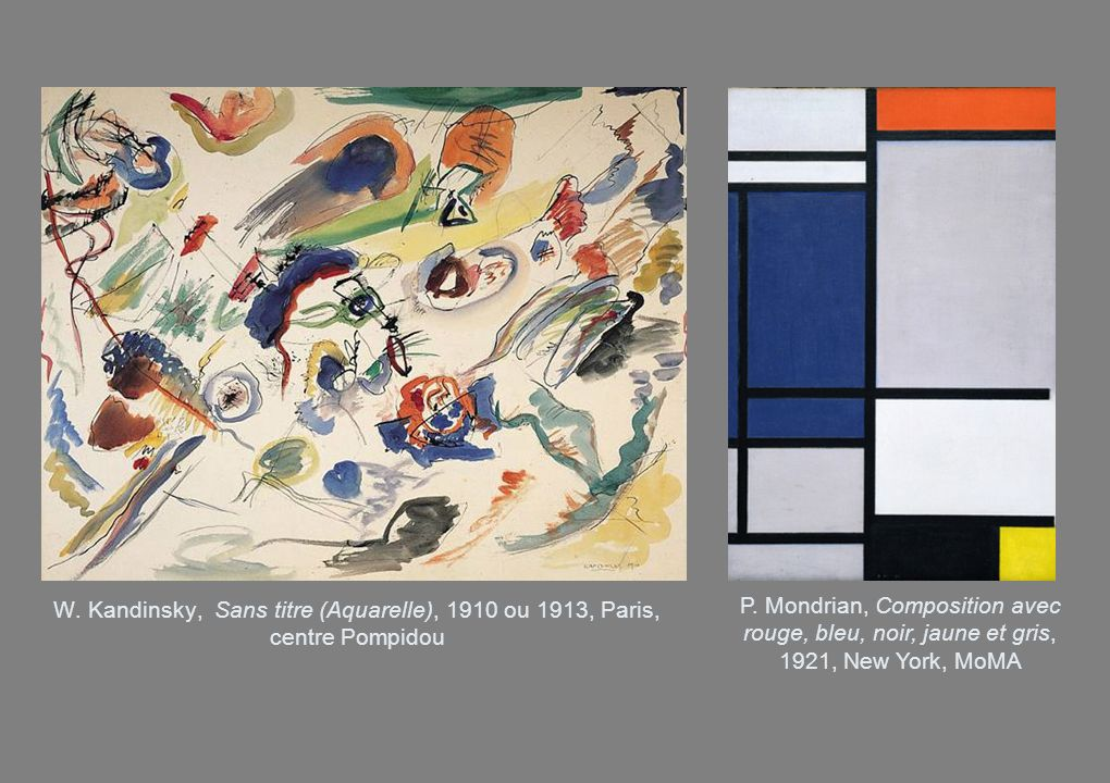 W. Kandinsky, Sans titre (Aquarelle), 1910 ou 1913, Paris, centre Pompidou