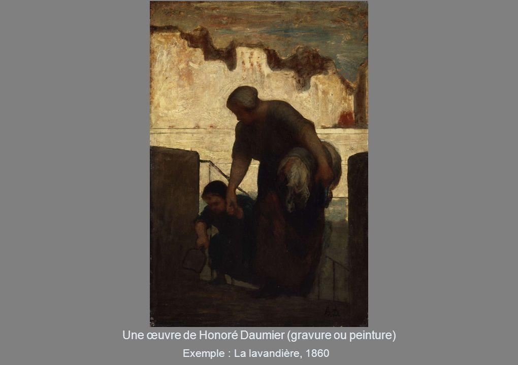 Une œuvre de Honoré Daumier (gravure ou peinture)