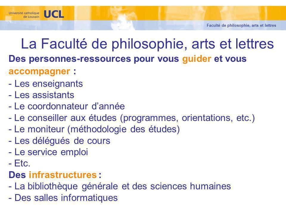 La Faculté de philosophie, arts et lettres