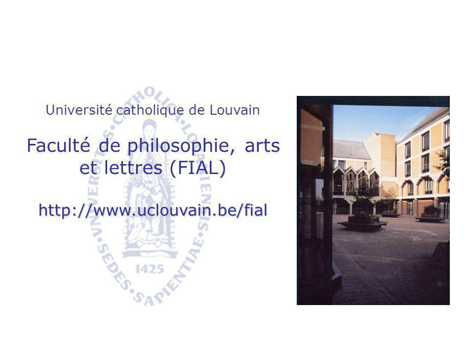Faculté de philosophie, arts et lettres (FIAL)