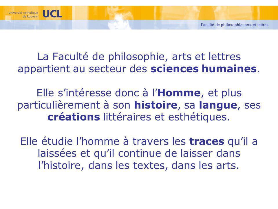 Faculté de philosophie, arts et lettres