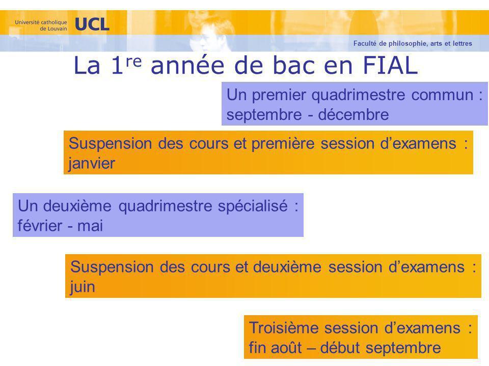 La 1re année de bac en FIAL