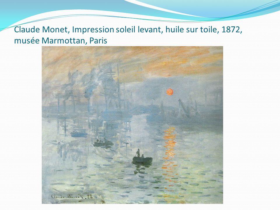 Claude Monet, Impression soleil levant, huile sur toile, 1872, musée Marmottan, Paris