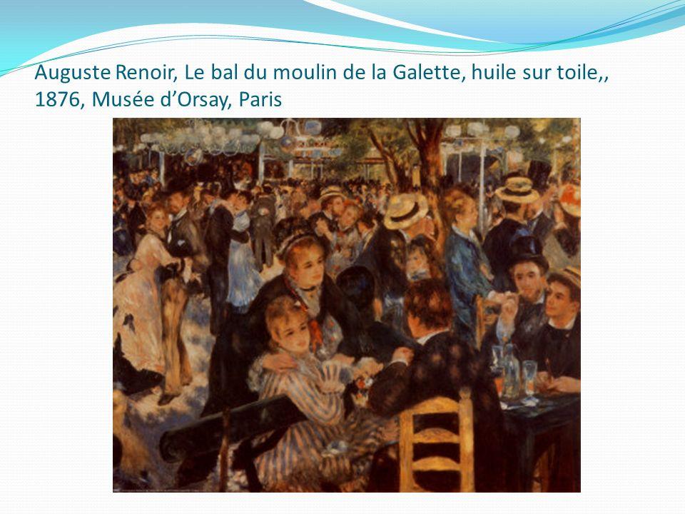 Auguste Renoir, Le bal du moulin de la Galette, huile sur toile,, 1876, Musée d'Orsay, Paris