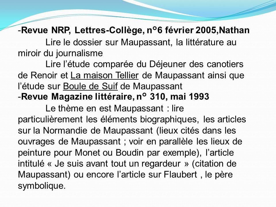 -Revue NRP, Lettres-Collège, n°6 février 2005,Nathan