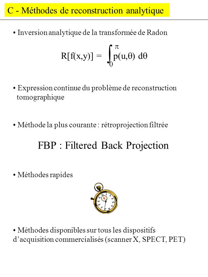 FBP : Filtered Back Projection