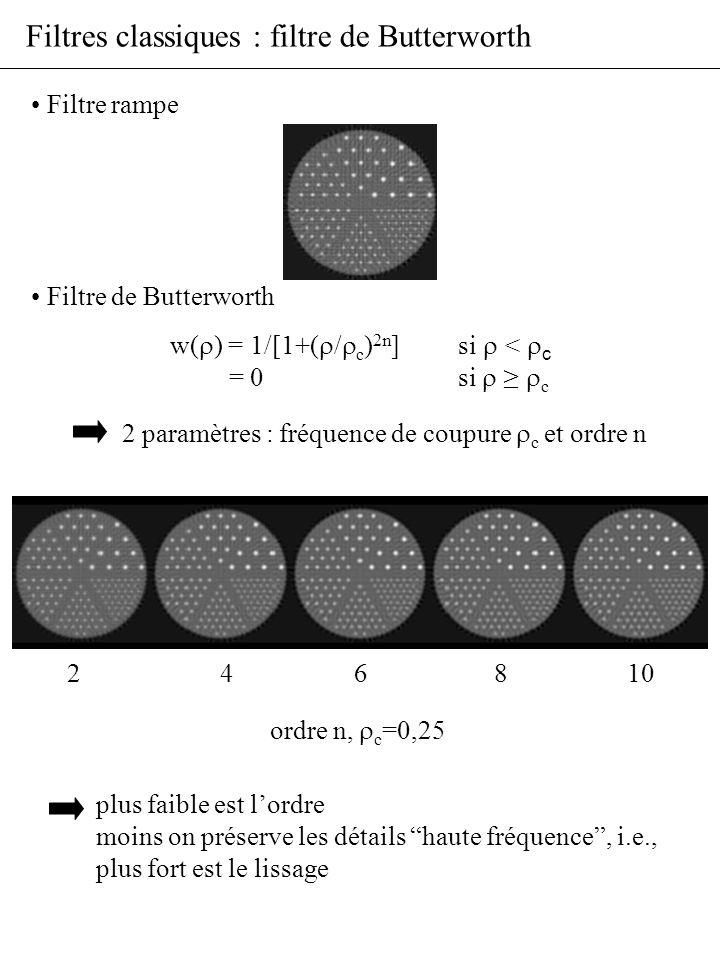Filtres classiques : filtre de Butterworth
