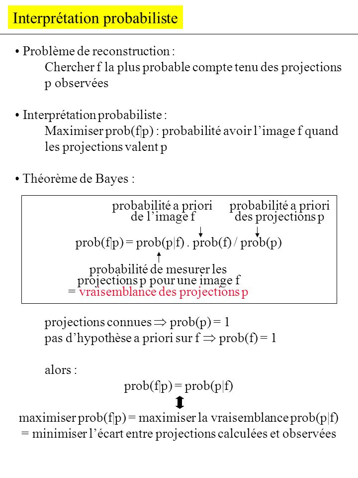 Interprétation probabiliste