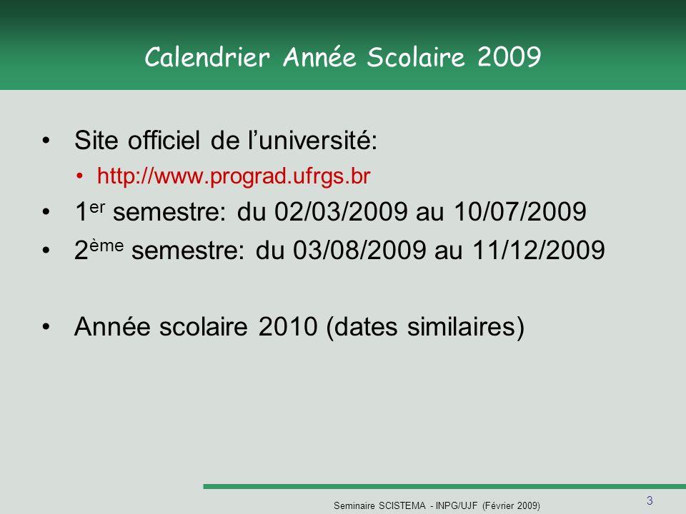 Calendrier Année Scolaire 2009