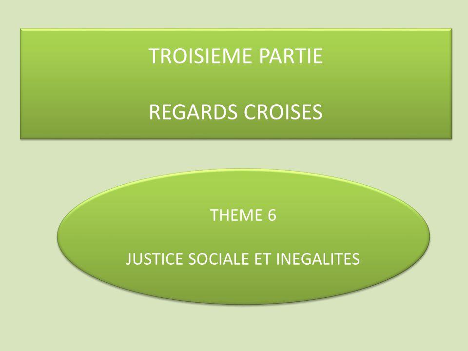 JUSTICE SOCIALE ET INEGALITES