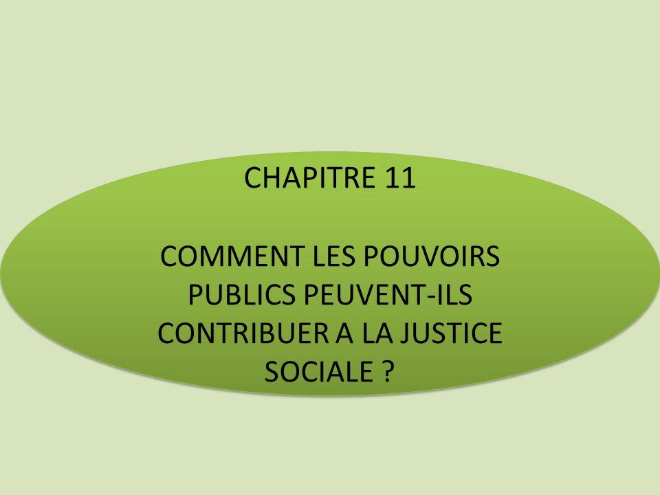 CHAPITRE 11 COMMENT LES POUVOIRS PUBLICS PEUVENT-ILS CONTRIBUER A LA JUSTICE SOCIALE
