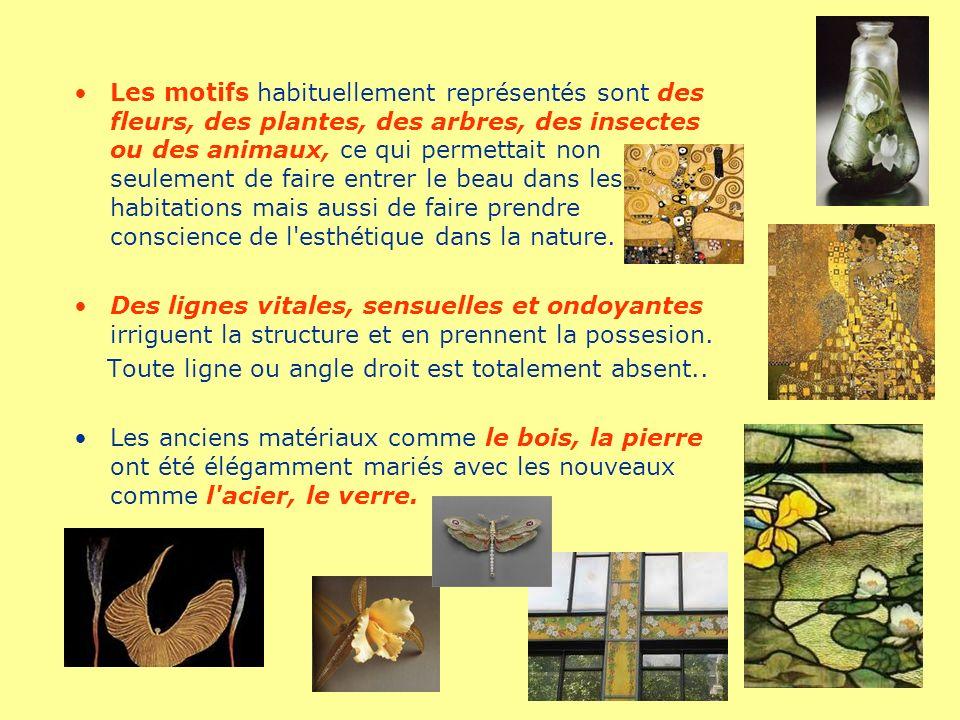 Les motifs habituellement représentés sont des fleurs, des plantes, des arbres, des insectes ou des animaux, ce qui permettait non seulement de faire entrer le beau dans les habitations mais aussi de faire prendre conscience de l esthétique dans la nature.